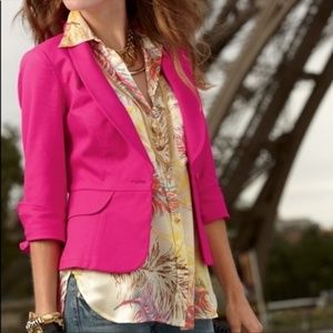 Cabi Power Pink Peplum Blazer 310 Stretch 10